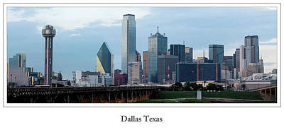 Photograph - Dallas Skyline 2010 by Rospotte Photography