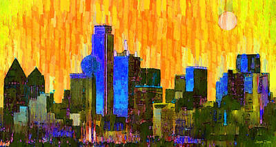 Dallas Skyline 62 - Da Art Print