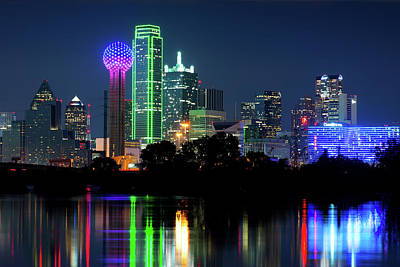 Photograph - Dallas Skyline 71917 by Rospotte Photography