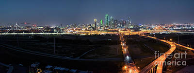 Dallas Skyline Photograph - Dallas Skyline After Dark by Tod and Cynthia Grubbs