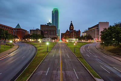 Photograph - Dallas Skyline And Dealey Plaza At Dawn by Gregory Ballos