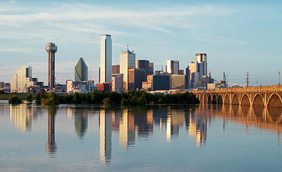 Photograph - Dallas Skyline At Dusk 32418 by Rospotte Photography