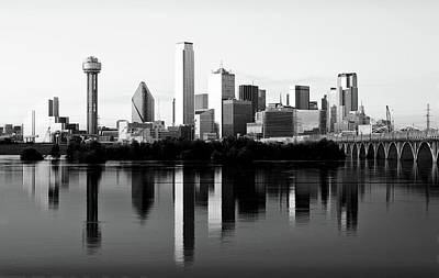 Photograph - Dallas Skyline B W 032618 by Rospotte Photography