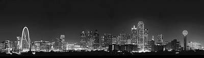 Photograph - Dallas Skyline B W 051418 by Rospotte Photography