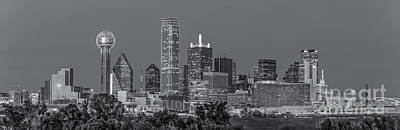 Black And White Photograph - Dallas Skyline Black And White by Tod and Cynthia Grubbs