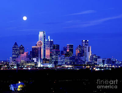 Photograph - Dallas Skyline by Carolyn Brown
