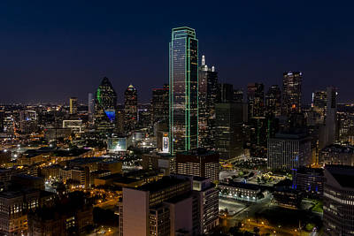 Dallas Skyline Evening Glow Art Print