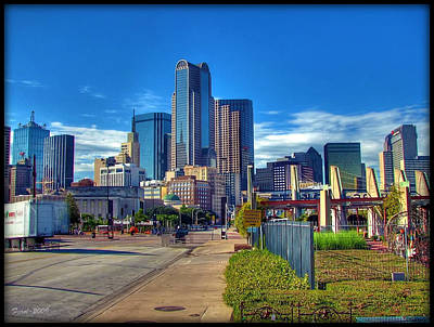 Dallas Skyline Art Print by Farol Tomson