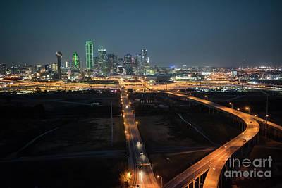 Dallas Skyline From Over The Trinity Art Print
