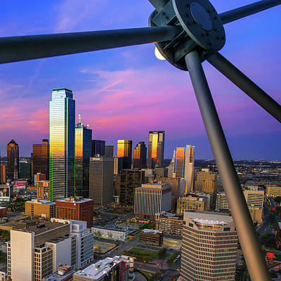 Photograph - Dallas Skyline From The Ball - 1x1 by Gregory Ballos