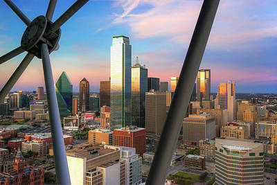 Photograph - Dallas Skyline From The Reunion Tower by Gregory Ballos