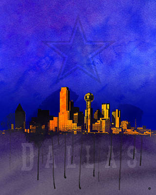 Painting - Dallas Skyline by Gary Grayson