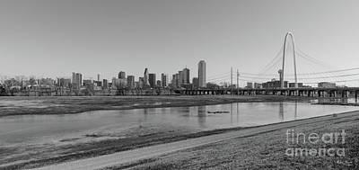 Photograph - Dallas Skyline Grayscale by Jennifer White