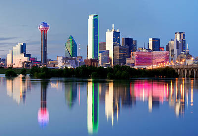 Photograph - Dallas Skyline Mirror Reflection by Rospotte Photography
