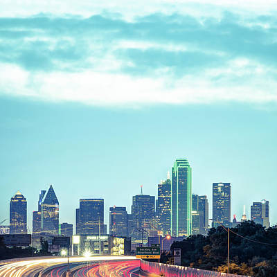 Photograph - Dallas Skyline Morning - Square 1x1 Format by Gregory Ballos