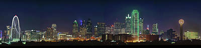 Photograph - Dallas Skyline Pano 071118 by Rospotte Photography