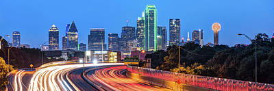 Photograph - Dallas Skyline Panoramic - Color Edition by Gregory Ballos