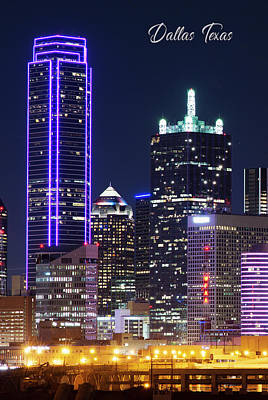 Photograph - Dallas Skyline Poster 111417 by Rospotte Photography