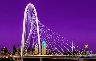 Dallas Skyline Purple Art Print