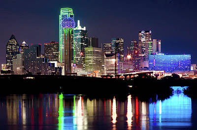 Photograph - Dallas Skyline Reflection 032418 by Rospotte Photography