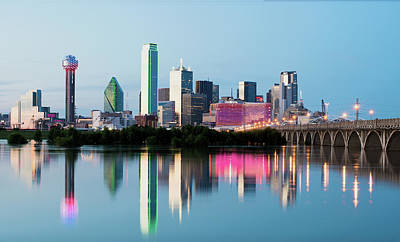 Photograph - Dallas Skyline Reflection 032618 by Rospotte Photography