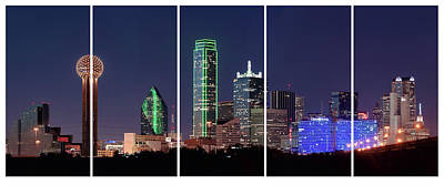 Photograph - Dallas Skyline Windows 021018 by Rospotte Photography
