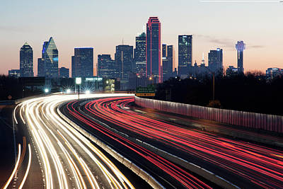 Photograph - Dallas Sunrise Skyline 042418 by Rospotte Photography