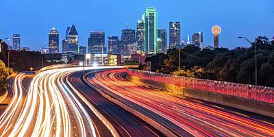 Photograph - Dallas Texas Panoramic Skyline - Color Edition by Gregory Ballos