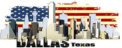 Dallas Texas Skyline Original by Don Kuing