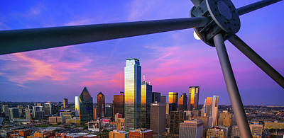 Photograph - Dallas Texas Skyline Panorama At Dusk by Gregory Ballos