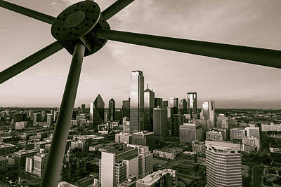Photograph - Dallas Texas Skyline - Sepia by Gregory Ballos