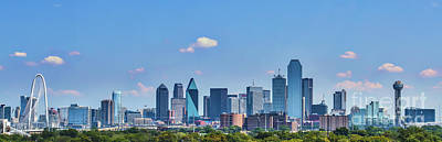 Dallas Skyline Photograph - Dallas Texas Skyline by Tod and Cynthia Grubbs