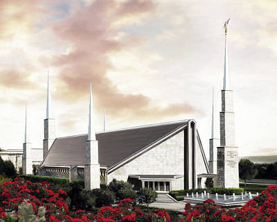 Lds Painting - Dallas Texas Temple by Brent Borup