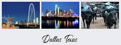 Photograph - Dallas Three Font 101217 by Rospotte Photography