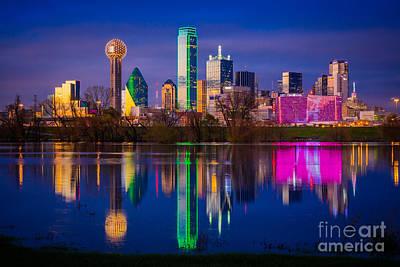 Dallas Photograph - Dallas Trinity River Reflection by Inge Johnsson