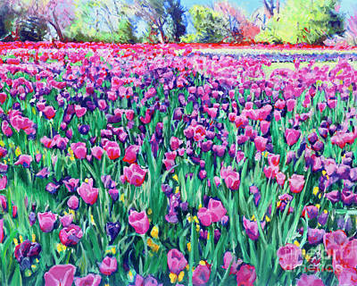 Painting - Dallas Tulips by Candace Lovely