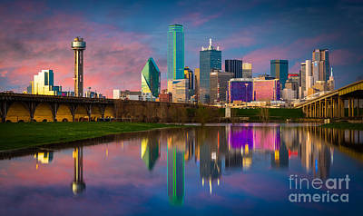 Metroplex Photograph - Dallas Twilight by Inge Johnsson