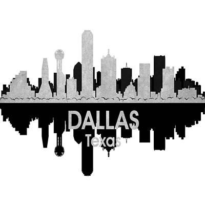 Usa Flag Mixed Media - Dallas Tx 4 Squared by Angelina Vick