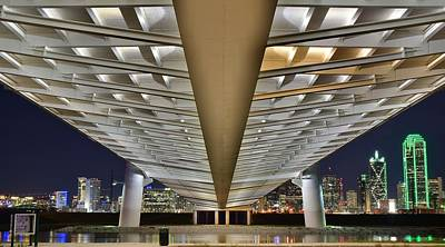 Photograph - Dallas Under The Margaret Hunt Hill Bridge by Frozen in Time Fine Art Photography
