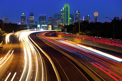 Photograph - Dallas Usa Skyline At Twilight by Gregory Ballos