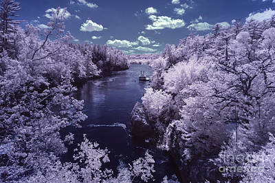 Infrared Photograph - Dalles Of The St. Croix In Infrared by Craig Hinton
