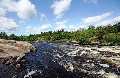 Photograph - Dalles Rapids French River by Debbie Oppermann
