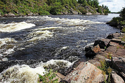 Photograph - Dalles Rapids French River I by Debbie Oppermann