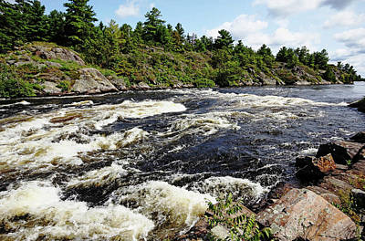 Photograph - Dalles Rapids French River II by Debbie Oppermann