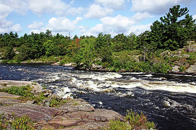 Photograph - Dalles Rapids French River IIi by Debbie Oppermann
