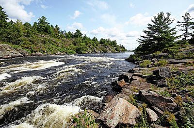 Photograph - Dalles Rapids French River Iv by Debbie Oppermann
