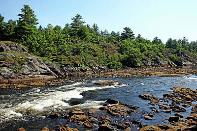 Photograph - Dalles Rapids French River Ontario by Debbie Oppermann