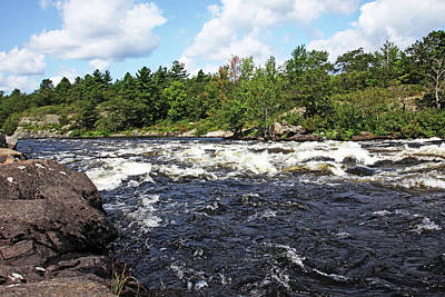 Photograph - Dalles Rapids French River V by Debbie Oppermann