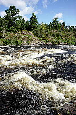 Photograph - Dalles Rapids French River Vi by Debbie Oppermann
