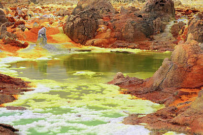 Photograph - Dallol Volcanic Crater by Aidan Moran